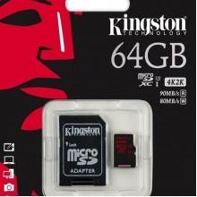 Карта памяти Micro SDXC 64Gb Kingston